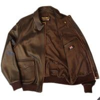 CUSTOM MADE A2 Blouson Jacket with Ribbed Cuffs & Waistband Inspired by Memphis Belle - CUSTOM MADE